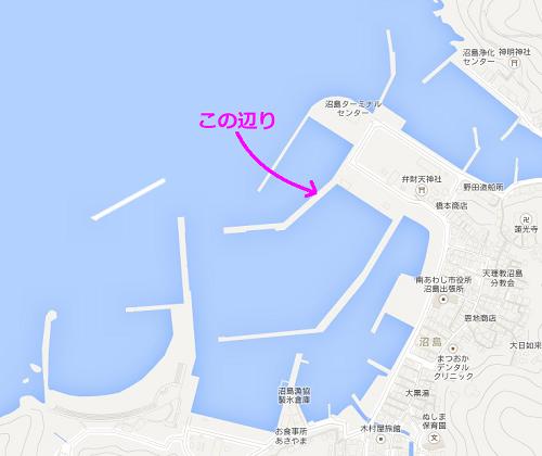 沼島汽船乗り場ポイント
