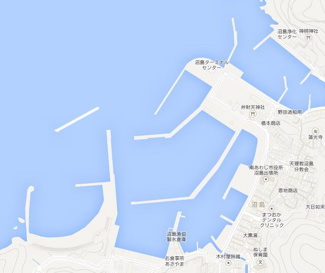 沼島の波止の地図